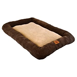 Precision Pet 6000 Low Bumper Crate Mat, 51 by 33, Coffee Liqueur, Chenille