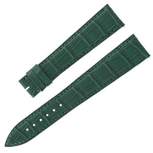 franck-muller-20-16-mm-vert-mat-alligator-en-cuir-bande-montre-pour-hommes