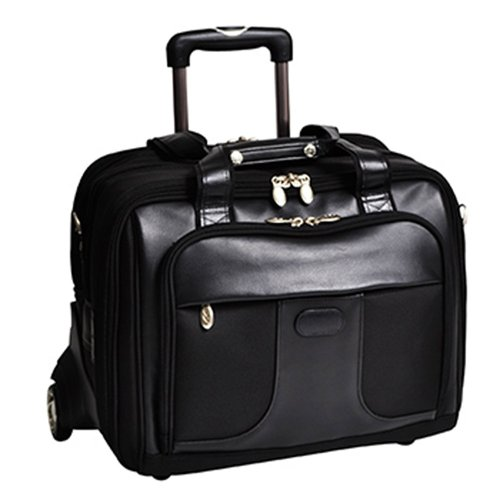 McKlein-USA-Chicago-Nylon-Wheeled-17-Laptop-Case