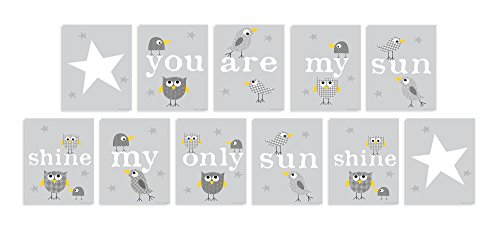 The Kids Room by Stupell You are My Sunshine 11-Pc Rectangle Wall Plaque Set