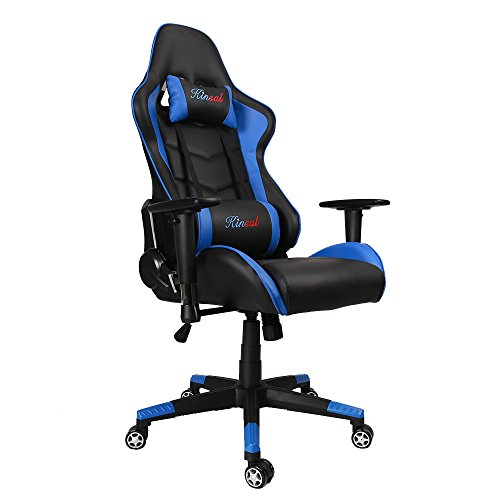 Black leather computer chair - Gaming Chair High Back Computer Chair Ergonomic Design Racing Chair Le