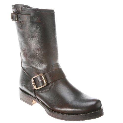 FRYE Women's Veronica Short Boot,Brown Brush Off, 6 M