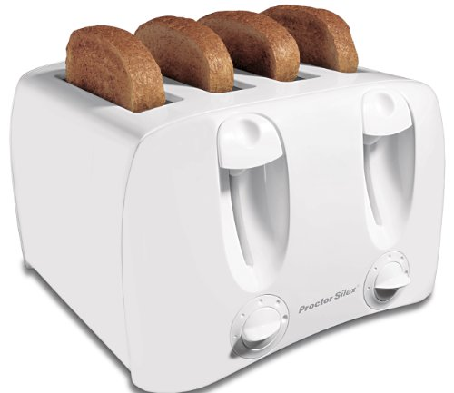 Proctor Silex 24605Y 4 Slice Home Cool Wall Home Kitchen Toaster Counter White