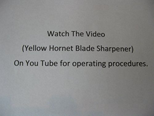 Yellow Hornet Lawn Mower Blade Sharpener / Grinder Motor NOT Included image