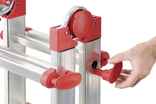 Hailo 7516 031 escalera telesc pica de aluminio 4 x 4 for Precio escalera aluminio extensible