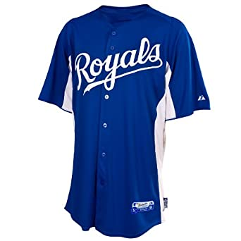 MLB Kansas City Royals Cool Base Auth Button Down Front Batting Practice Jersey,... by Majestic
