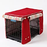 Crate Covers and More Simply Red with Sierra Cool Blue Cording Stagecoach, Double Doors