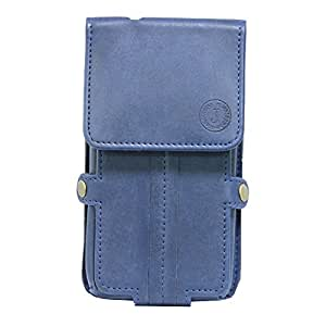 Jo Jo A6 Nillofer Series Leather Pouch Holster Case For Celkon Campus A418 Dark Blue