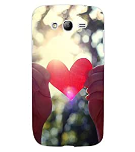 ColourCraft Heart Design Back Case Cover for SAMSUNG GALAXY GRAND NEO I9060