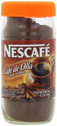 Nescafe Cafe De Olla Instant Coffee, Cinnamon, 6.7 Ounce Jar