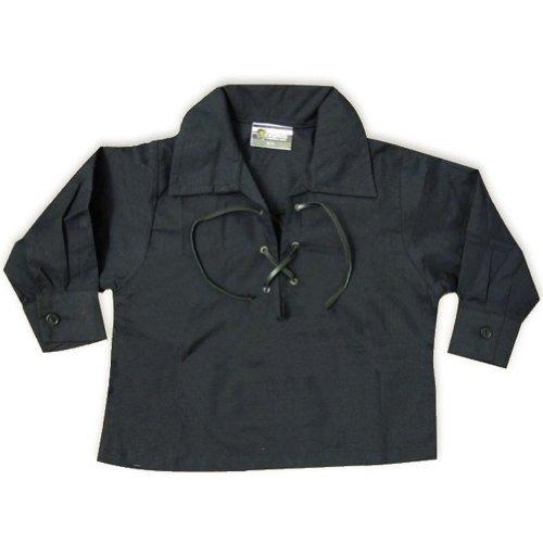 Tartanista - Camicia giacobina scozzese Ghillie neonato - Nero - 0-6 mesi