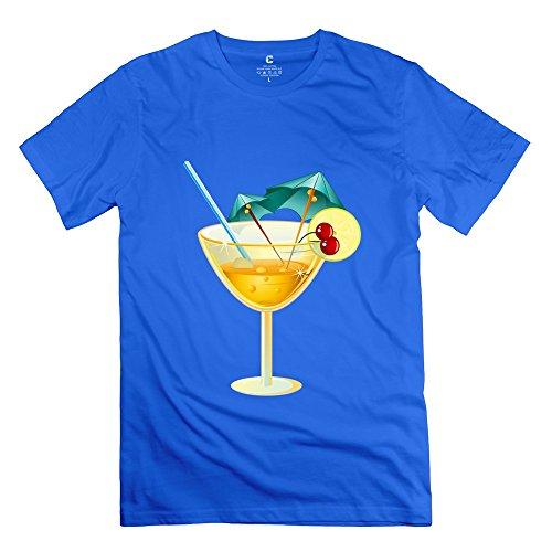 Tgrj Men'S Tee - Cool Drinks T Shirt Royalblue Size Xs