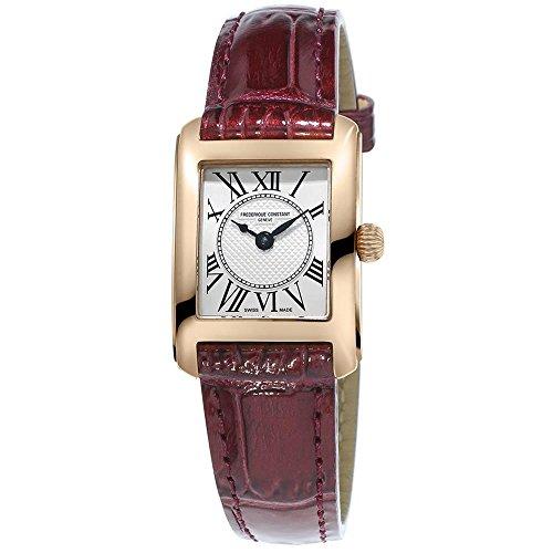 frederique-constant-classics-carree-femme-bracelet-cuir-crocodile-marron-saphire-quartz-montre-fc-20