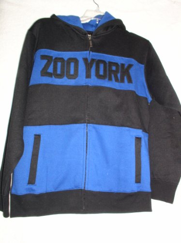 Zoo York Boys Hooded Zip Up Jacket, Size Large, (16-18), NYPD Blue