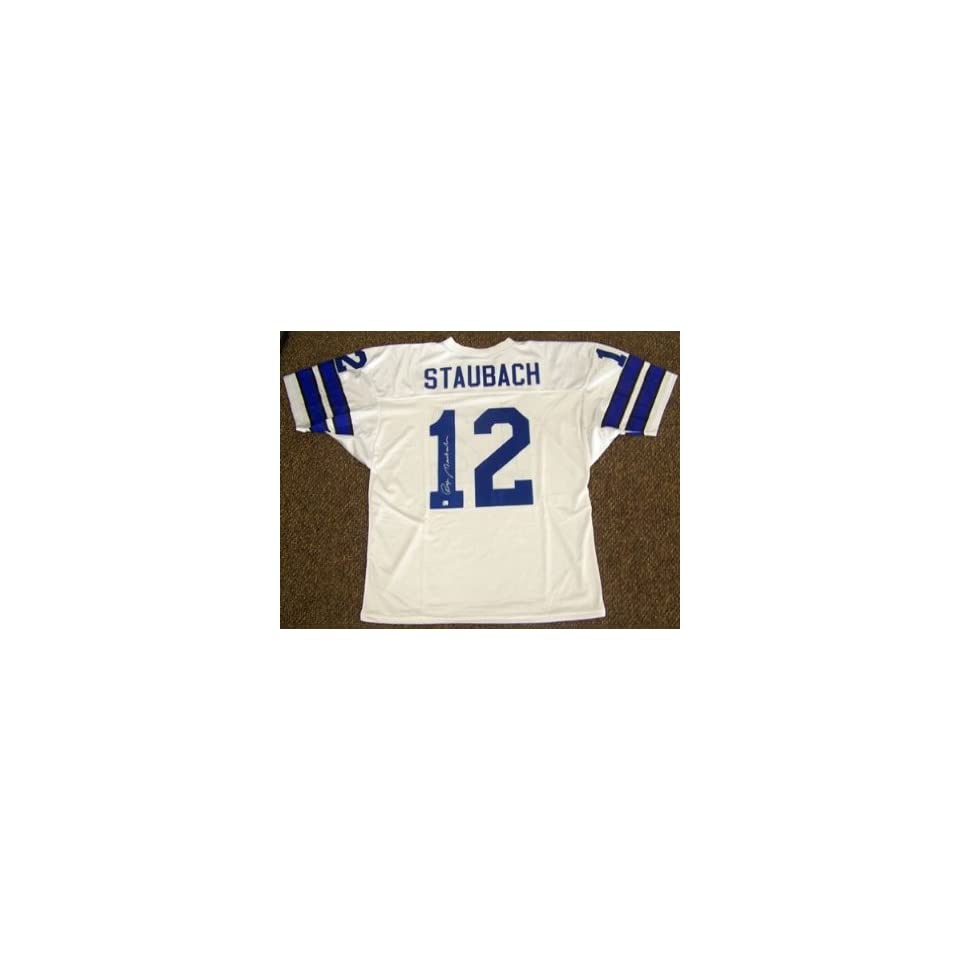 purchase cheap 97e8f 058aa Roger Staubach Jersey Autographed / Signed Dallas Cowboys ...
