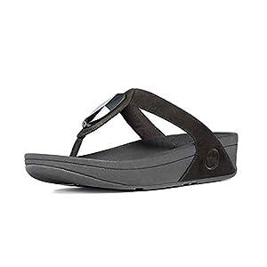 FitFlop's Women's Chada Thong Sandal,Black,39-40 M EUR/9 B(M) US