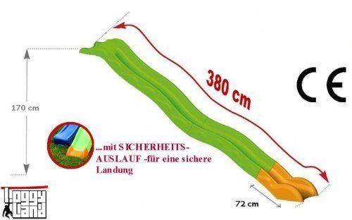 Hangrutsche Wellenrutsche 3,80m günstig bestellen