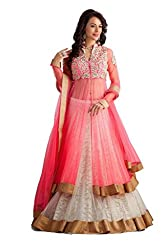 Janasya Women's Net Unstitched Dress Material (JNE-DR-0898-PINK.A_Pink)