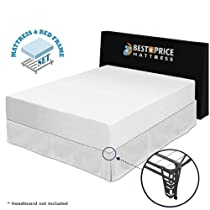 "Hot Sale 12"" Memory Foam Mattress + Bed frame Set - Queen - No box spring needed"