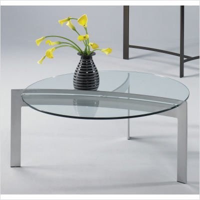 Mirage Contemporary Cocktail Table Metal Finish: Platinum
