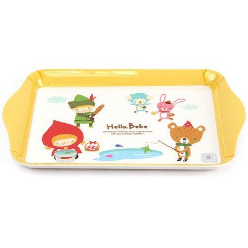Lock&Lock Hello Bebe Storytelling Educational Design Baby Feeding Rectangular Mini Plate