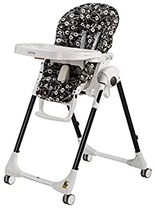 Peg Perego USA Prima Pappa Zero 3 High Chair, Pavilion Black