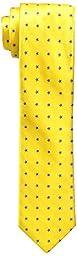 Tommy Hilfiger Men\'s Slim Star Club Tie, Yellow, One Size