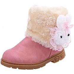 Winter Kinder Baby Mädchen Stiefel Schneestiefel Covermason Warm Schuhe (21 (1-2 Jahre alt), Rosa)
