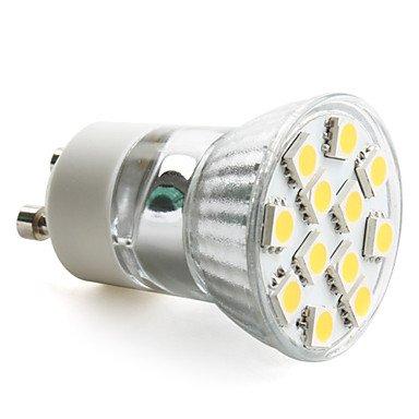 Gu10 2W 12X5050 Smd 120-140Lm 2800-3200K Warm White Light Led Spot Bulb (230V)