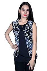 Cherry Clothing Women's Top (CGT1015 M_Black_Medium)