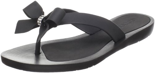 GUESS Women's Tutu Sandal,Black,6 M US (Inc Bow Flip Flops compare prices)