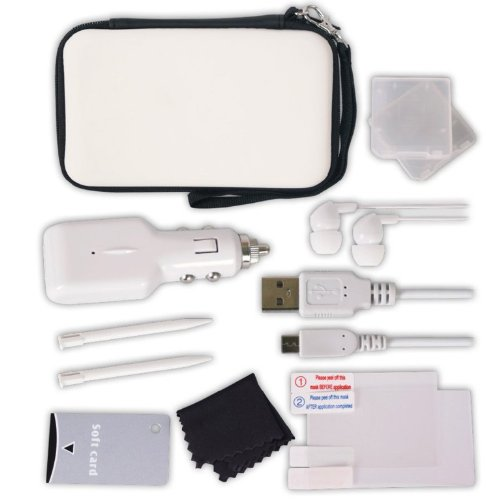 Crown 12-in-1 Deluxe Accessory Pack: White (Nintendo 3DS)