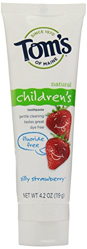 Tom'S Of Maine Fluoride Free Children'S Toothpaste, Silly Strawberry, 4.2 Oz