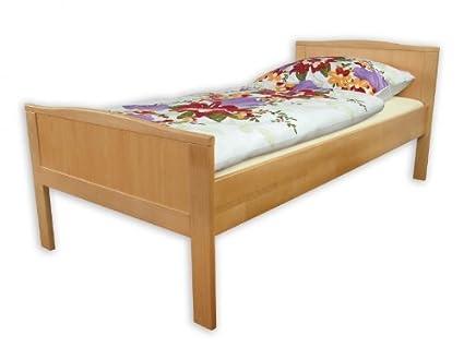 60.70-09 oR Seniorenbett Buche, extra hohes Bett 90x200 cm, Bettgestell