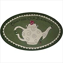 Susan Branch Counting Our Blessings Series Counting Our Blessings Green Novelty Rug