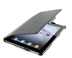 StilGut UltraSlim Case with Stand and Smart-Cover for Apple iPad 2 (WiFi & 3G), Black