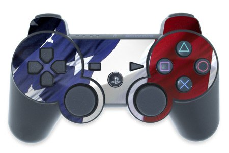 Mygift Patriotic Design Ps3 Playstation 3 Controller Protector Skin Decal Sticker