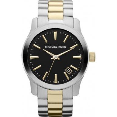 Michael Kors MK7064 Mens Two Tone Watch