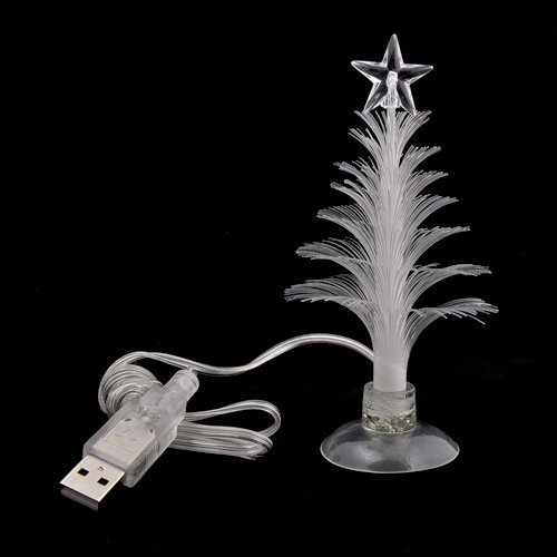 small fiber optic christmas tree