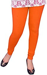 Unicraft Women's Cotton & Lycra Leggings (unicraft-09Orange)