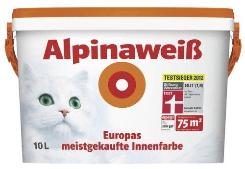 ALPINAWEIß Alpina weiß matt, perfekt deckende Innenfarbe, 10 L. 4,49 €/L. NEU