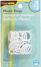 34-Inch Plastic Rings 24-Pack - 34-Inch Plastic Rings 24-Packdritz-White Plastic Rings Home Decor Ma