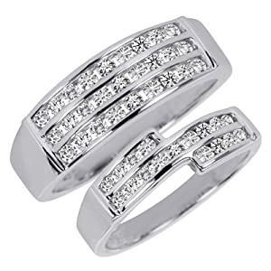 1 1/8 CT. T.W. Round Cut Diamond His And Hers
