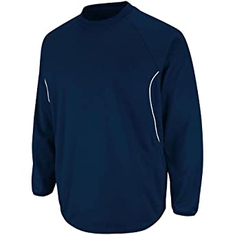 Majestic Athletic Majestic Youth Therma Base Tech Fleece Pullovers Small Navy