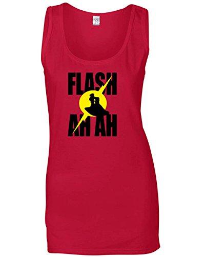 T-Shirtshock - Canottiera Donna TR0046 Flash Gordon Ah Ah T-Shirt, Taglia L