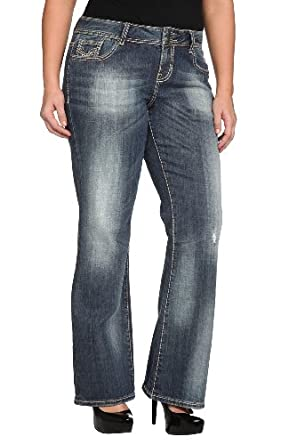 Vigoss - Grey Stitch Bootleg Jeans