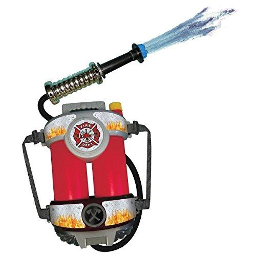 GSG Fire Hose Squirt Gun & Backpack Kids Fireman Toy Firefighter Costume Acsry (Fireman With Hose Adult Costume)