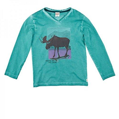 Sturdy Jungen langarm Shirt 71600122 in grün / blau (petrol melange 095), Kleidergröße:128;Farbe:grün / blau (petrol melange 095)