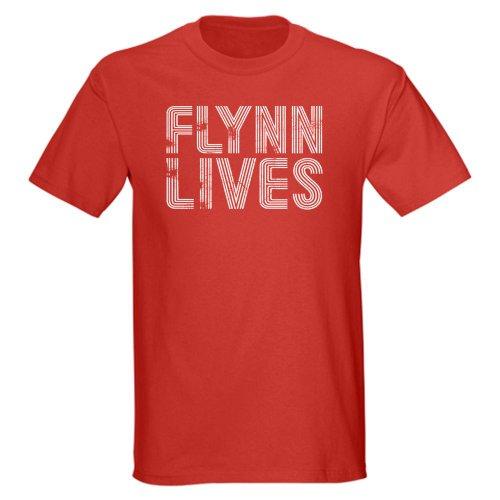 CafePress - Vintage Style Flynn Lives Tron T-Shirt - Dark T-Shirt