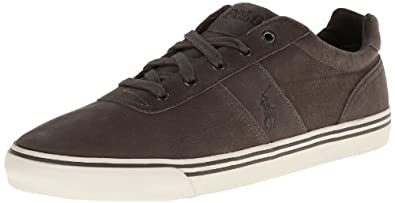Polo Ralph Lauren Men's Hanford Fashion Sneaker,Charcoal Grey,7 D US